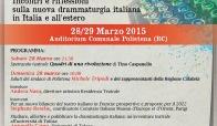 Nuova drammaturgia italiana, incontro promosso dalla Compagnia Dracma