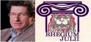 Riccardo Chiaberge (foto tratta dal blog dell'inserto domenicale del Sole 24 Ore) ed il simbolo del Rhegium Julii