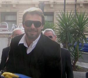 Alessandro Preziosi al suo arrivo al Cilea