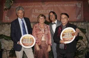 Da sinistra, Fulco Ruffo di Calabria, Teresa Polimeni Cordova, Giuseppe LIvoti, Pippo Miraudo