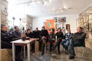 Un momento della conferenza stampa (foto Marco Costantino)