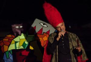 Orrico durante la performance a Reggio (foto Marco Costantino)