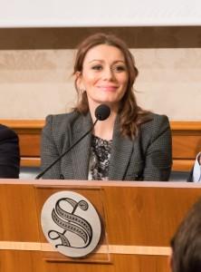 Alma Manera durante la conferenza stampa (foto Maurizio Sacco)