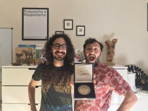 Giulio Vita e SImone Colistra con la medaglia del Capo dello Stato