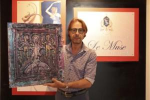 Livoti presenta l'opera di Nik Spatari che sarà donata alla Pinacoteca